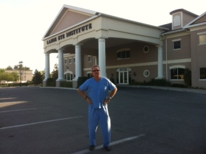 Michael Lange OD, CNS out in front of The lange Eye Institute in The Villages Florida, home to many nutritional studies.