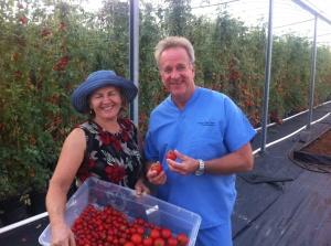 Dr. Lange at local organic hydroponic green house , food is medicine!